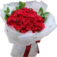 Coco Collection: 100 Red Roses Bouquet