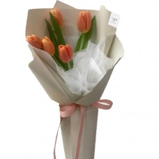 Mon Amour: Orange Tulip's Bouquet