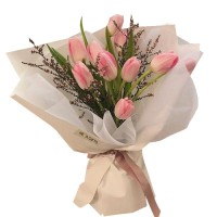 ETERNITY LOVE COLLECTION: Pink Tulip Bouquet - LUX