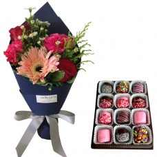 Mother's Day Collection: Fiona: Mix Bouquet with Chocolate dipped Marshmallows