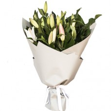 White/Pink Lily Bouquet (BIG)