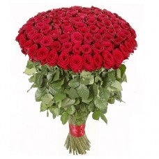 100 Long Red Roses (60cm++)