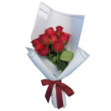 SYMPHONY COLLECTION: Red Roses in white  wrapping