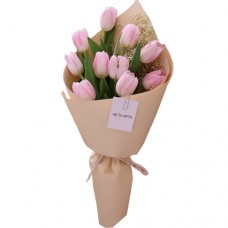 VALENTINO COLLECTION: Luxury  Fresh Pink Tulip bouquet