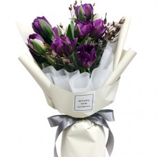 VALENTINO COLLECTION: Luxury Purple Tulip bouquet