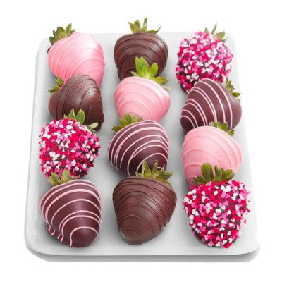 Colorful Choco Strawberries
