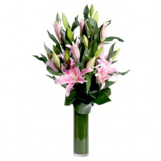 Coco Collection: Pink Lilies vase arrangement