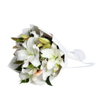 Coco Collection: White Lilies Bouquet