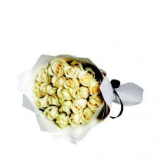 Coco Collection: White Roses bouquet