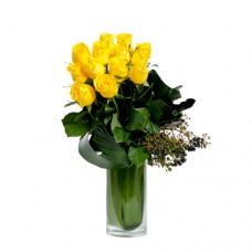 Coco Collection: Yellow Roses vase arrangement