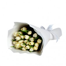 Coco Collection: White Tulip bouquet