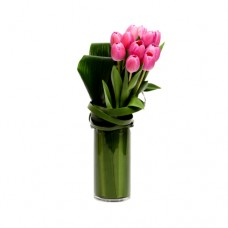 Coco Collection: Red Tulips Vase Arrangement