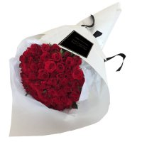 COCO COLLECTION:  50 / 88 / 100  Fresh Red Roses Bouquet For Special Ones