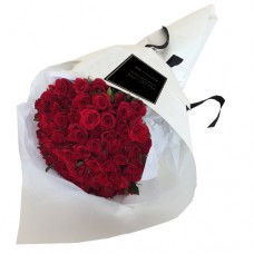 50 Fresh Red Roses Bouquet For Special Ones