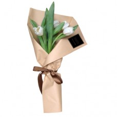 ETERNITY LOVE COLLECTION: White tulip bouquet