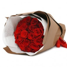 Symphony Collection: Classy Glamour: Red Roses Hand Bouquet