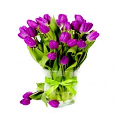 AMORE COLLECTION: Violet Tulip Bouquet