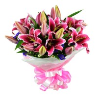 Queen of Angels: Stargazer Lily Bouquet