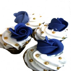 "CUPCAKES ""BLUE ROSES"""