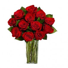 Coco Collection: Red/ Pink  Roses bouquet in Vase