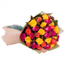 ELEGANCE COLLECTION: MIX COLOR ROSES LUXURY BOUQUET