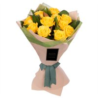 ELEGANCE COLLECTION: YELLOW ROSES LUXURY BOUQUET