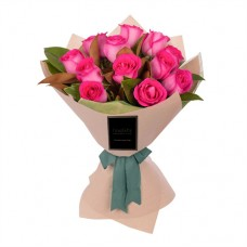 ELEGANCE COLLECTION: PINK ROSES LUXURY BOUQUET