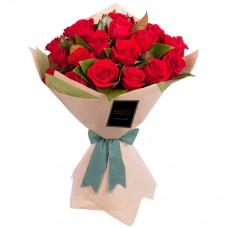 ELEGANCE COLLECTION: 18 RED ROSES LUXURY BOUQUET